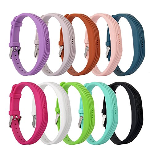 x market armband silikon ersatzband armband f r fitbit flex 2 fitness band zubeh r 10pcs ehnim. Black Bedroom Furniture Sets. Home Design Ideas