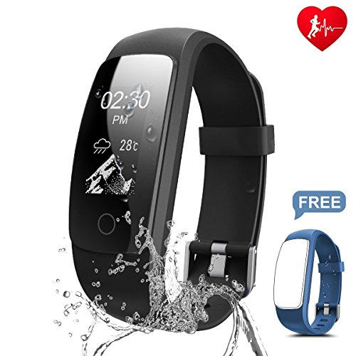 chianruey fitness armband mit herzfrequenz fitness tracker pulsuhr aktivit tstracker mit. Black Bedroom Furniture Sets. Home Design Ideas