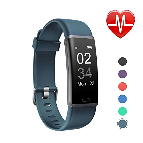 schrittz hler uhr letsfit fitness tracker mit pulsmesser. Black Bedroom Furniture Sets. Home Design Ideas
