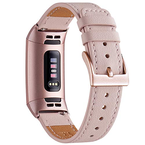 wfeagl armband kompatibel f r fitbit charge 3 armband leder klassisch einstellbares. Black Bedroom Furniture Sets. Home Design Ideas